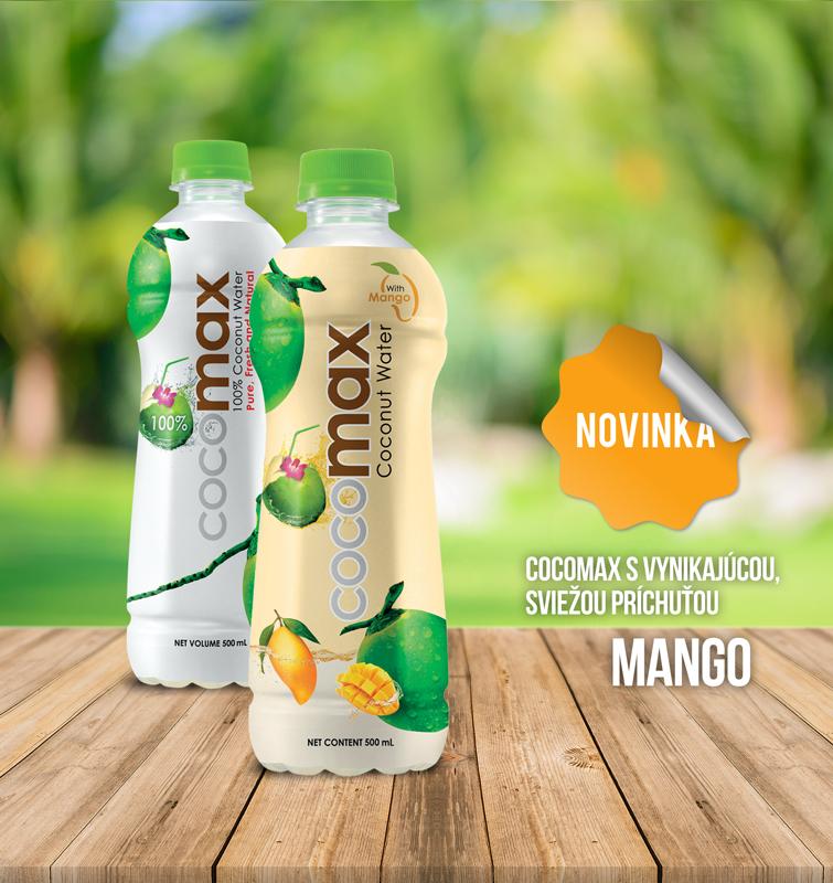 COCOMAX mango kokosová voda mango novinka